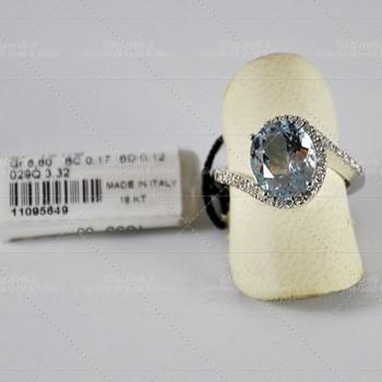 Anello Recarlo Acqua marina diamanti ZP151/B