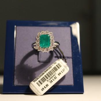 Anello Recarlo Con Smeraldo E Diamanti